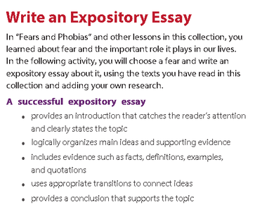 phobia expository essay language arts  picture